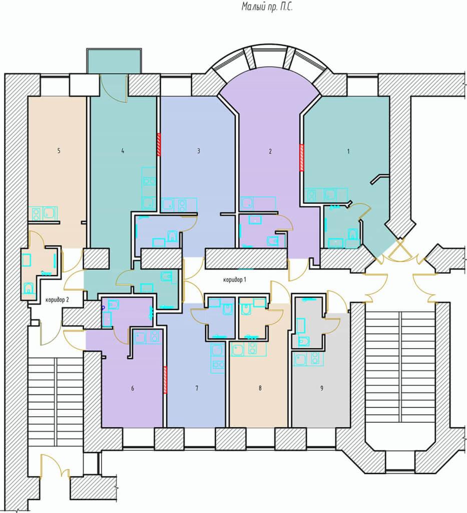 Планировки студий Мончегорская 10